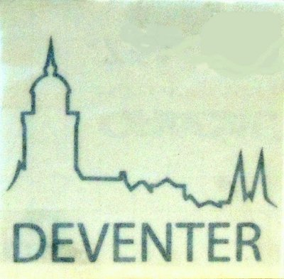 Sticker logo Deventer zwart groot