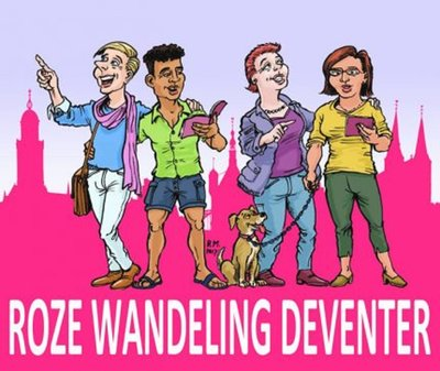 Roze wandeling Deventer
