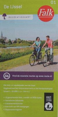 De IJssel Recreatiekaart Falk 01 (Nieuwe uitgave)