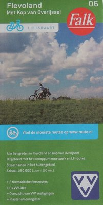 Flevoland met Kop van Overijssel Fietskaart Falk 06