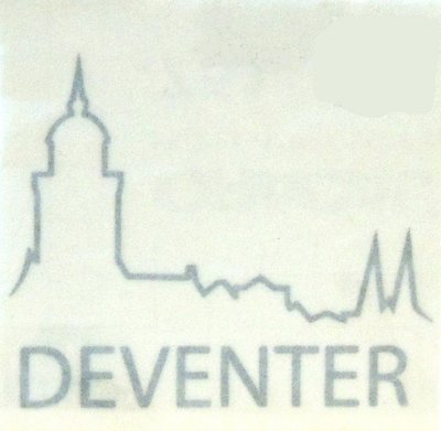 Sticker logo Deventer zilver groot