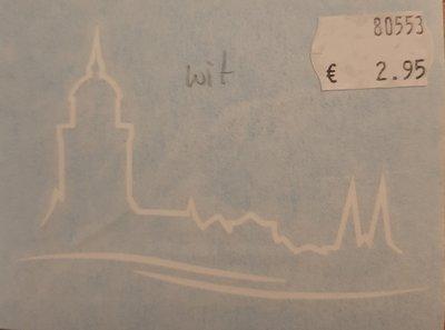 Autosticker wit met het nieuwe logo van Deventer